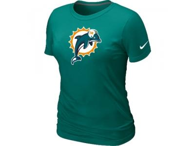 sports shoes d7b67 75eec Women Miami Dolphins L.Green Logo T-Shirt on sale,for Cheap ...