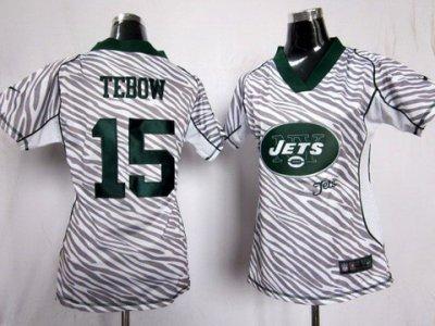 c51ca3c7059 Women NEW New York Jets 15 Tim Tebow FEM FAN Zebra NEW NFL Jerseys