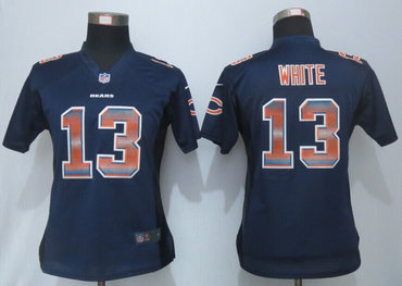 Women Nike Bears #13 Kevin White Navy Blue 1940s Throwback Stitched  hot sale