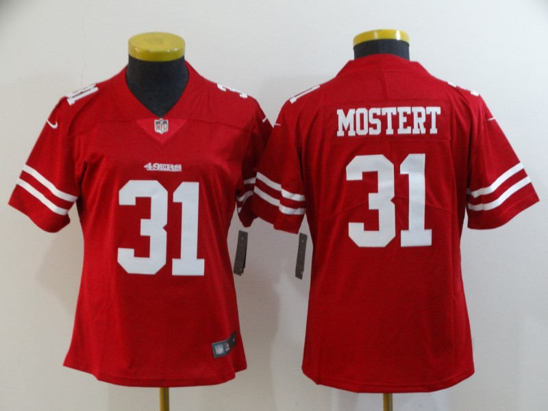 Women Nike 49ers 31 Raheem Mostert Red Women Vapor Untouchable Limited Jersey
