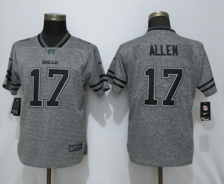 Women Nike Bills 17 Josh Allen Gray Gridiron Gray Women Vapor Untouchable Limited Jersey