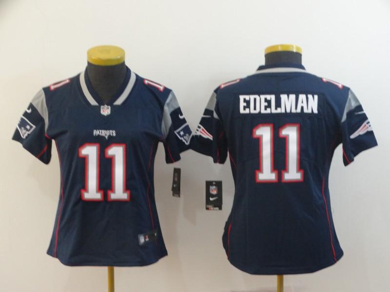 Women Nike Patriots 11 Julian Edelman Navy Women Vapor Untouchable Limited Jersey