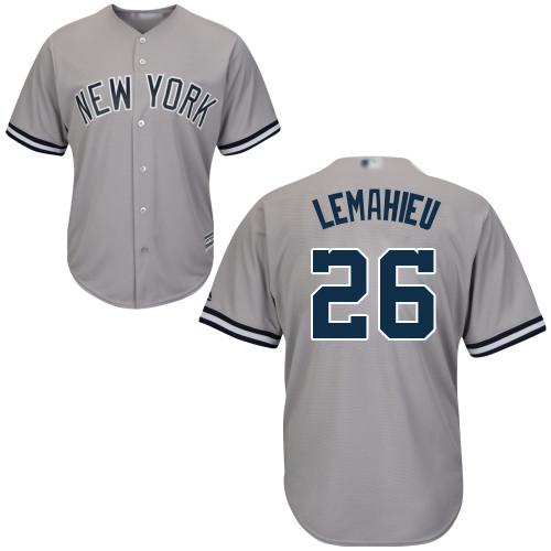 Yankees #26 DJ LeMahieu Grey Cool Base Stitched Youth Baseball Jersey