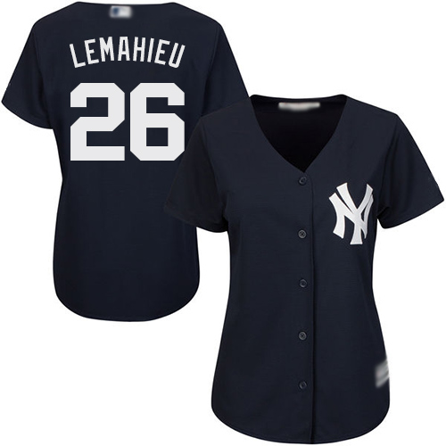 Yankees #26 DJ LeMahieu Navy Blue Alternate Women's Stitched Baseball Jersey