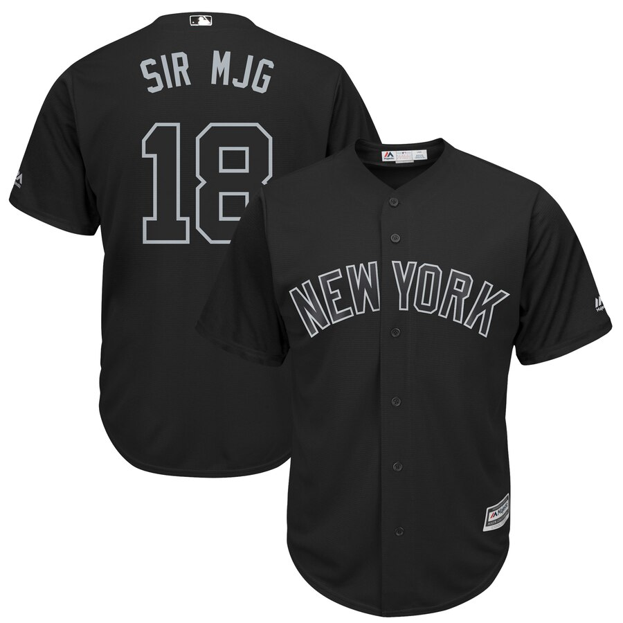 Yankees 18 Didi Gregorius Sir Mjg Black 2019 Players' Weekend Player Jersey
