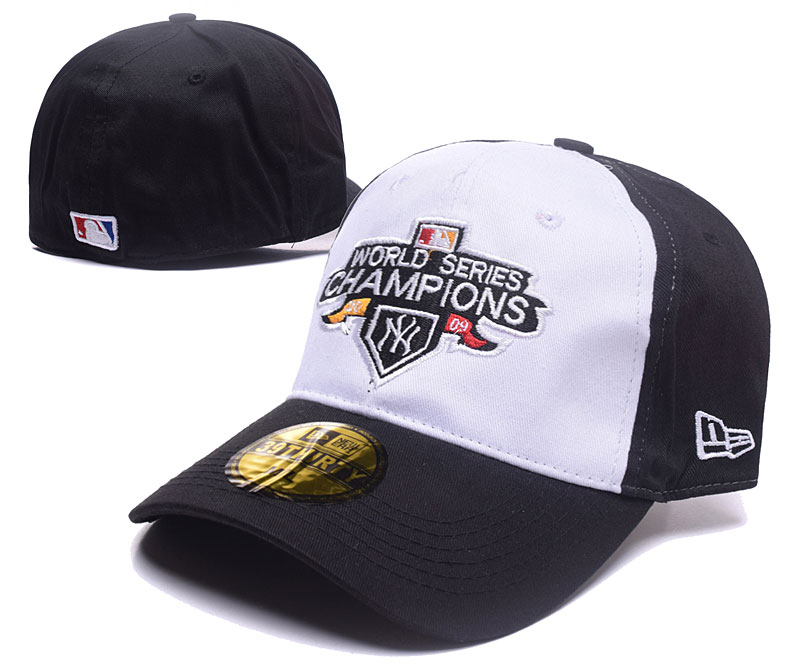 Yankees 2009 World Series Champions White Fitted Hat DF