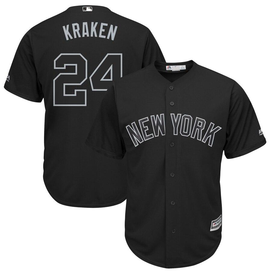 Yankees 24 Gary Sanchez Kraken Black 2019 Players' Weekend Player Jersey