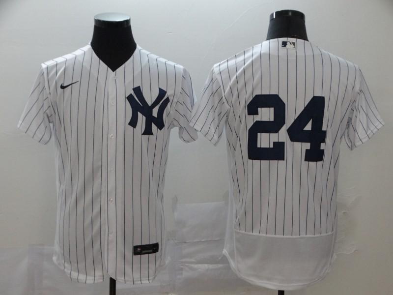 Yankees 24 Gary Sanchez White 2020 Nike Flexbase Jersey