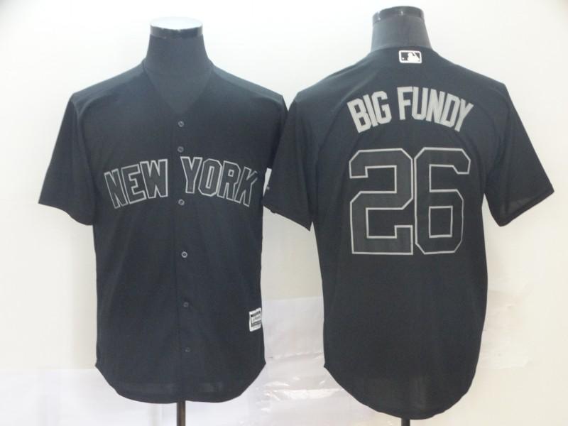 Yankees 26 DJ LeMahieu Big Fundy Black 2019 Players' Weekend Player Jersey