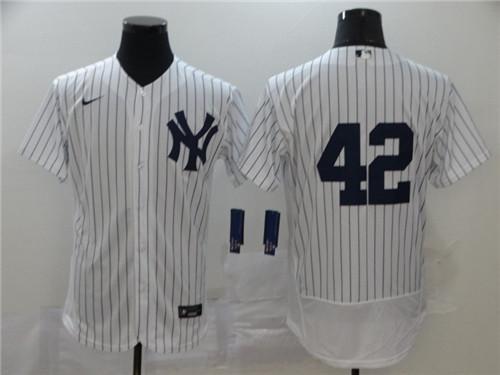 Yankees 42 Mariano Rivera White 2020 Nike Cool Base Jersey