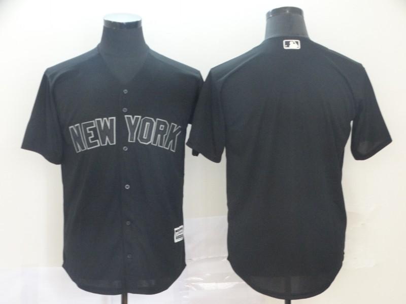 Yankees Blank Black 2019 Players' Weekend Player Jersey