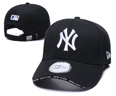 Yankees Fresh Logo Black Speak Adjustable Hat TX