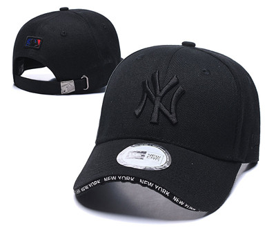 Yankees Team Logo All Black Speak Adjustable Hat TX