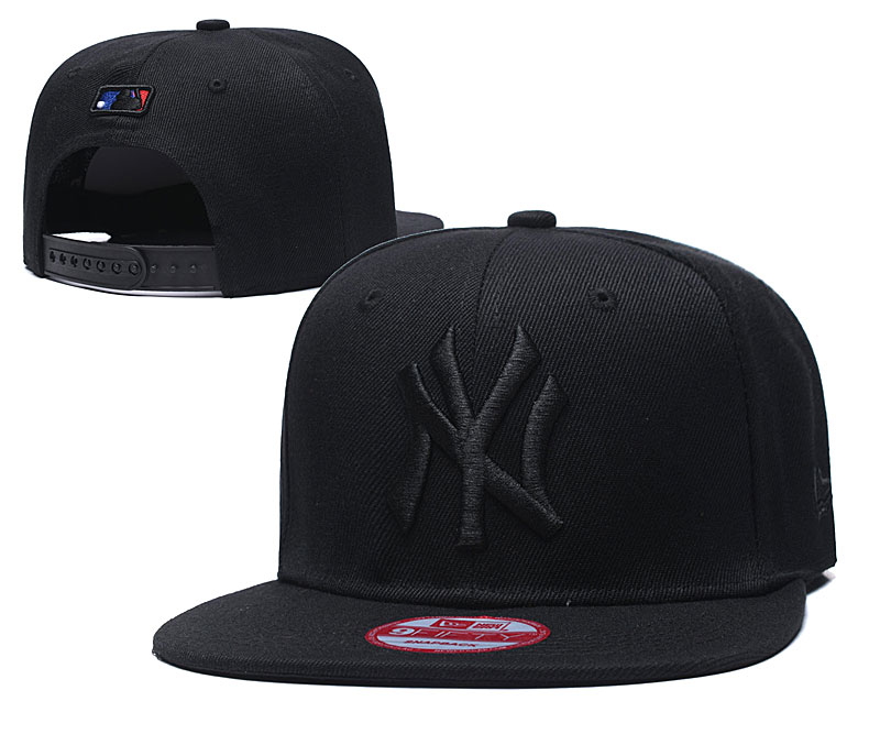Yankees Team Logo Black Adjustable Hat TX