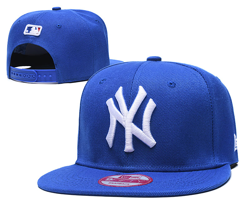 Yankees Team Logo Royal Adjustable Hat TX