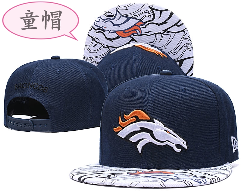 Youth Broncos Team Logo Navy Adjustable Hat GS