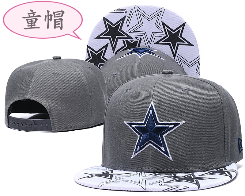 Youth Cowboys Team Logo Gray Adjustable Hat GS