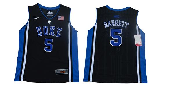 Youth Duke Blue Devils 5 RJ Barrett Black Youth Nike College Basketball Jersey
