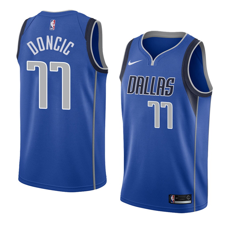 Youth Mavericks 77 Luka Doncic Royal Youth Nike Swingman Jersey