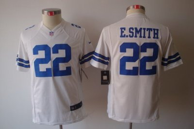 buy online 283ce 5cd99 Youth NEW Dallas Cowboys 22 E.SMITH White Jerseys on sale ...