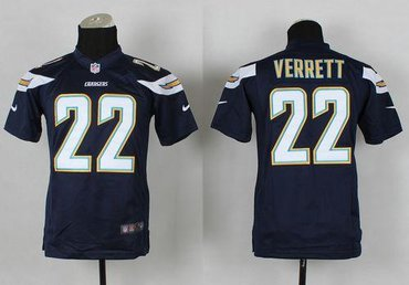 New Youth NFL San Diego Chargers #22 Jason Verrett Blue Jersey on sale