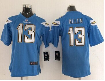 pretty nice a05fd 2dd2f Youth Nike Chargers #13 Keenan Allen Electric Blue NFL New ...