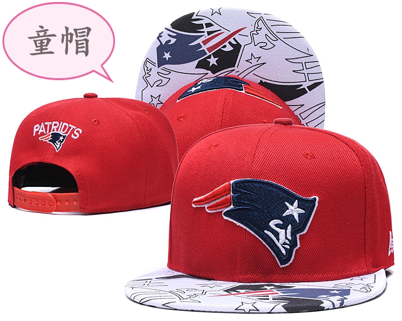 Youth Patriots Team Logo Red Adjustable Hat GS