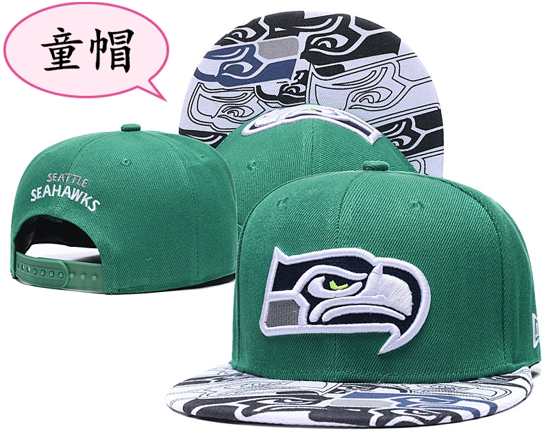 Youth Seahawks Team Logo Green Adjustable Hat GS