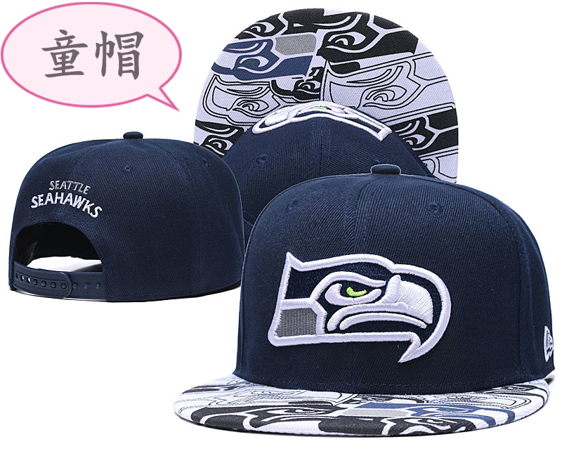 Youth Seahawks Team Logo Navy Adjustable Hat GS