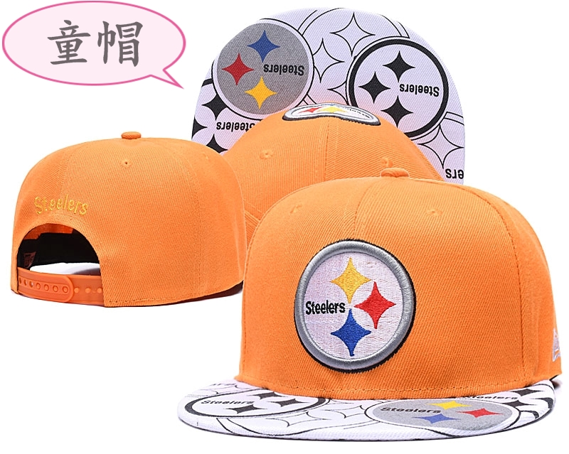 Youth Steelers Team Logo Yellow Adjustable Hat GS