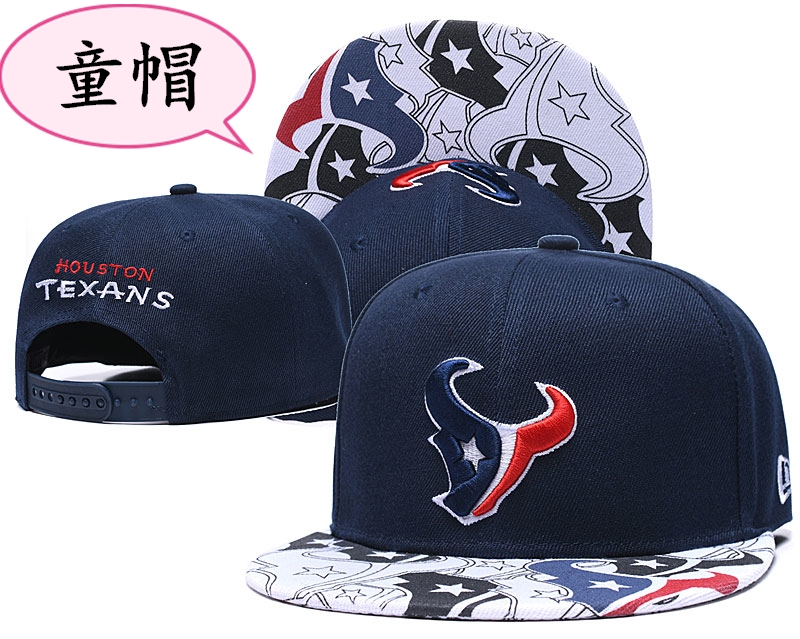 Youth Texans Team Logo Navy Adjustable Hat GS