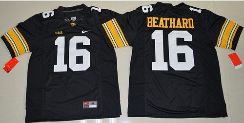 awkeyes #16 C. J. Beathard Black Stitched NCAA Jersey