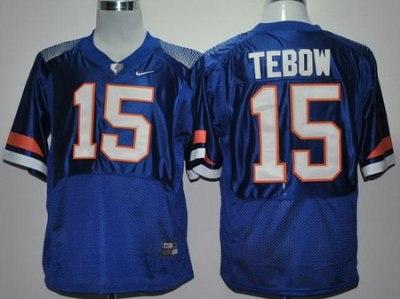 florida gators 15# tim tebow royal blue pro combat college football ncaa jerseys