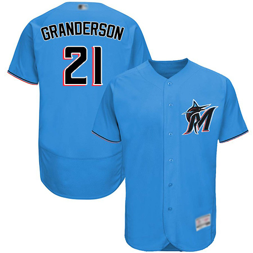 marlins #21 Curtis Granderson Blue Flexbase Authentic Collection Stitched Baseball Jersey
