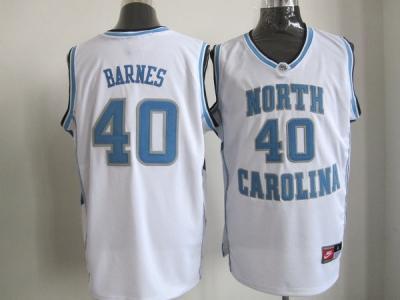 nba north carolina #40 barnes white jerseys