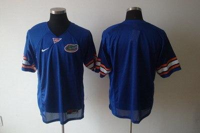 ncaa college florida gators blank blue football jersey