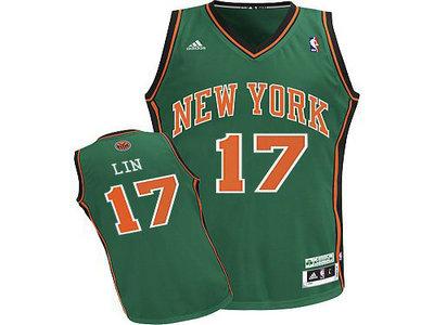 new york knicks 17 jeremy lin GREEN jerseys