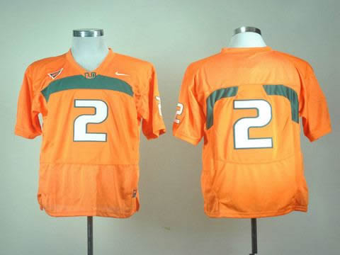 NEW miami hurricanes 2 orange college football jerseys