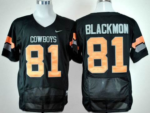 NEW oklahoma state cowboys justin blackmon 81 black pro combat college football jerseys