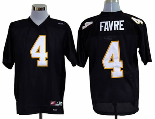 NEW southern mississippi golden eagles brett favre 4 black college football throwback jerseys