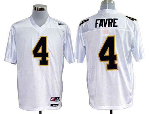 NEW southern mississippi golden eagles brett favre 4 white college football throwback jerseys