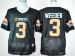 oklahoma state cowboys 3# brandon weeden black pro combat ncaa jerseys