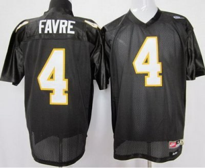 southern mississippi gold eagles #4 brett favre black ncaa jerseys1
