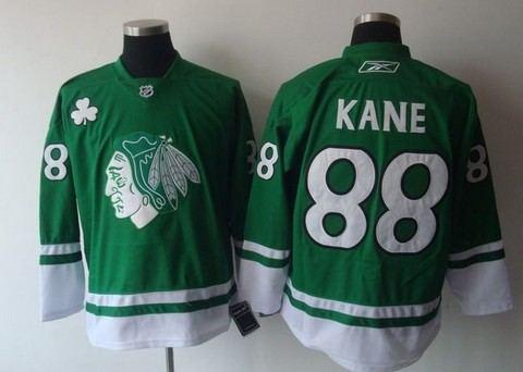 st partys day chicago blackhawks 88 patrick kane green jerseys