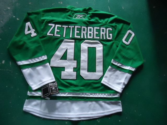 st partys day nhl jersey deroit red wings 40# zetterberg green