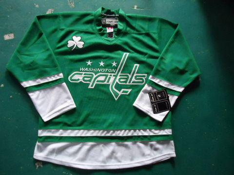 st partys day nhl jerseys washington capitals blank green jerseys