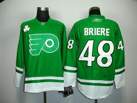 st partys day nhl philadelphia flyers 48 briere jerseys green