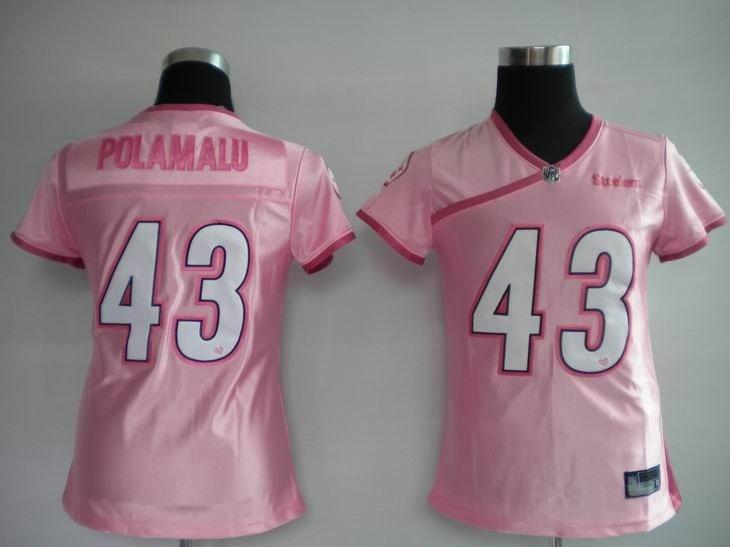 new style c25d1 25d25 women pittsburgh steelers troy polamalu 43 women jerseys on ...